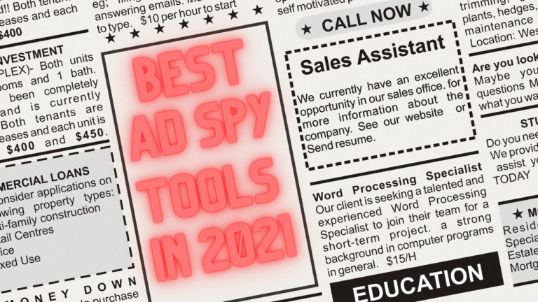 Best Ad Spy Tools in 2021